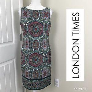 London Times Sleeveless Dress Sz 10